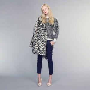 NWOT Banana Republic Snow Leopard Wool Moto Coat